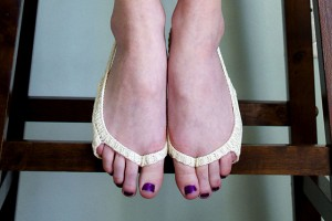 Skinny Sling Back Peep Socks (No Show)