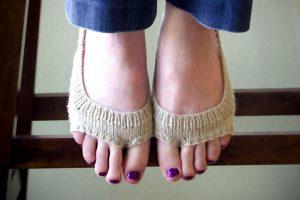 Sling Back Peep Socks (No Show)